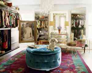 Bohemican Chic fashion designer, Nanette Lepore's dressing room is just as gorgeous as her clothing designs.